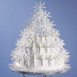 Snowflakes Tree Cake