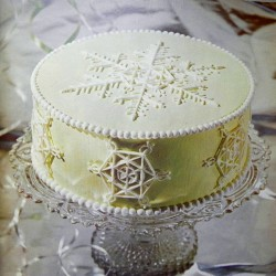 Snowflake Themed Cake