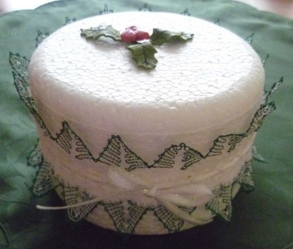 White Christmas Tree Cake
