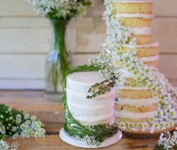 Winter Nude Wedding Cake