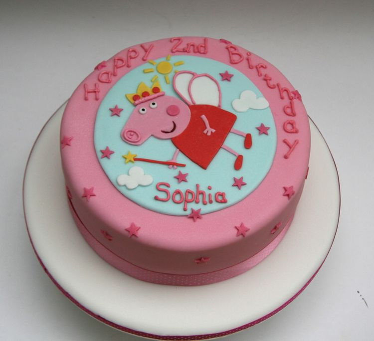 Peppa Pig Nd Birthday Cake
