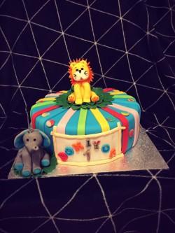 Birthday Cake with Lion