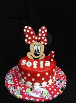 Minie Birthday Cake