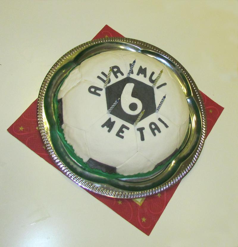 Birthday Football Cake for Nephew (2017 March)