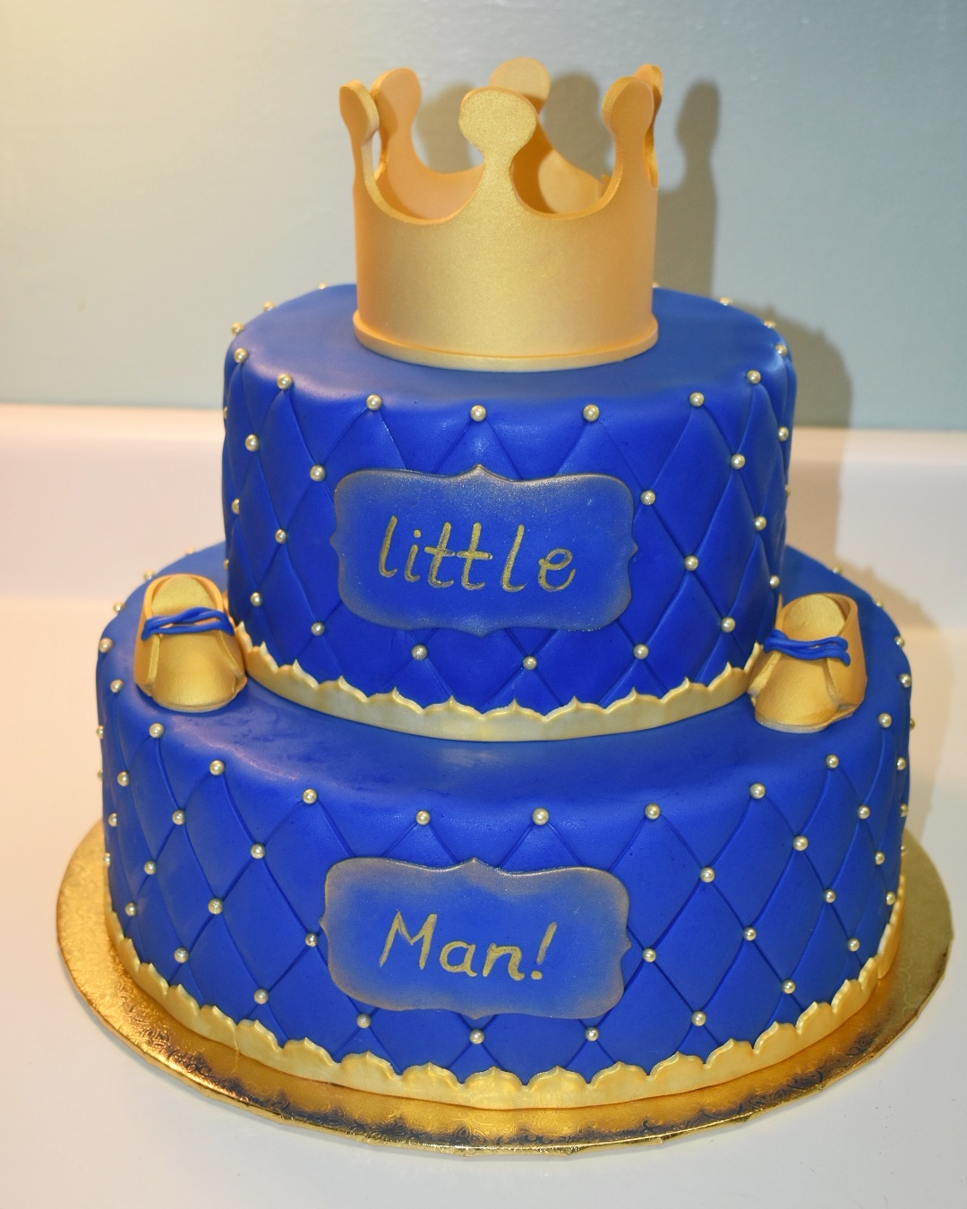 Little Prince Cake Ideas Blue White