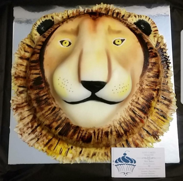 Gotcakes Lion Birthday Cake