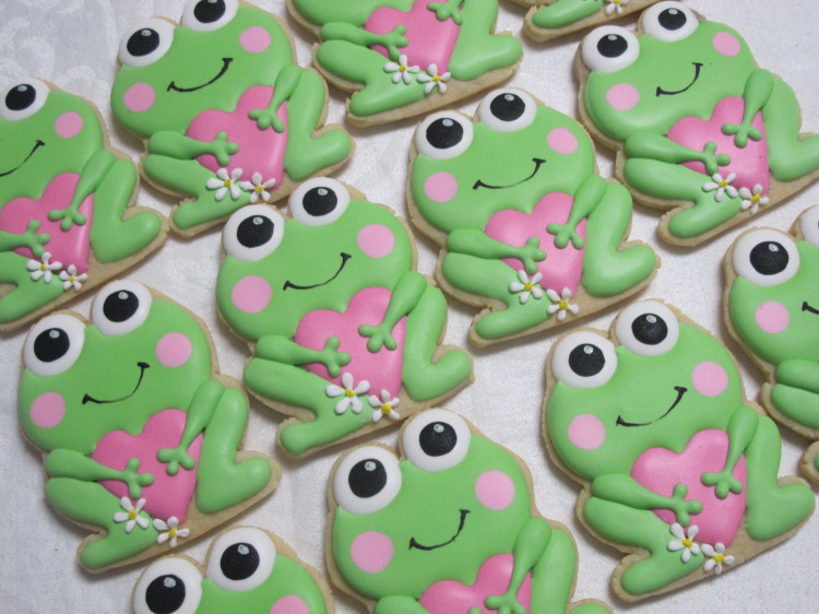 Frog Love Cookies