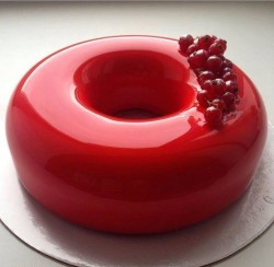 Red Glaze Birthday Cake