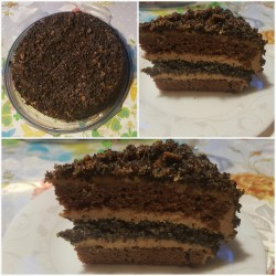 Chocolate cake with caramel frosting (2018 May)
