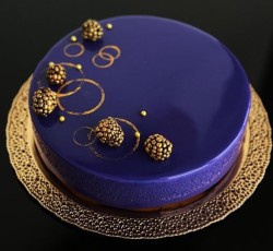 Blue glaze cake