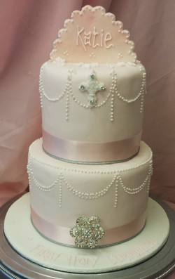 2 Tier Communion Cake