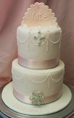 2 Tier Communion Cake