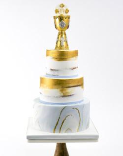 Golden Communion Cake