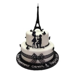 Love in Paris Cake