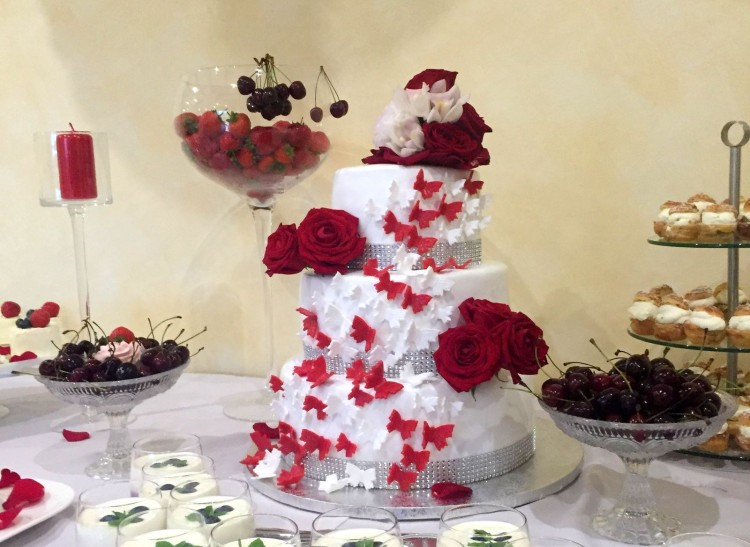 Sweet Wedding Table with Cherries