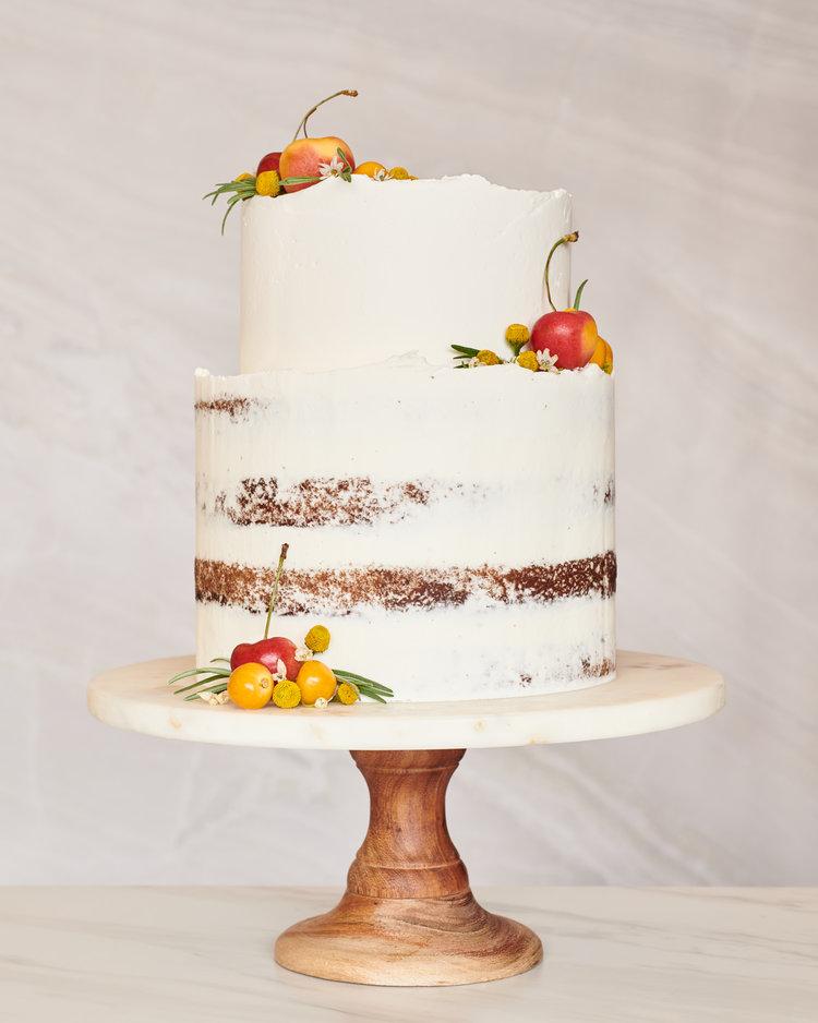 Naked Wedding Cake with Fruits